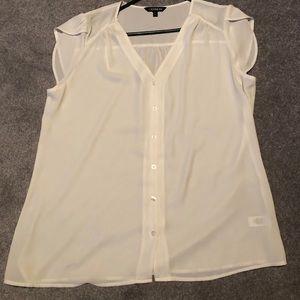 Sheer cream Express size large shirt